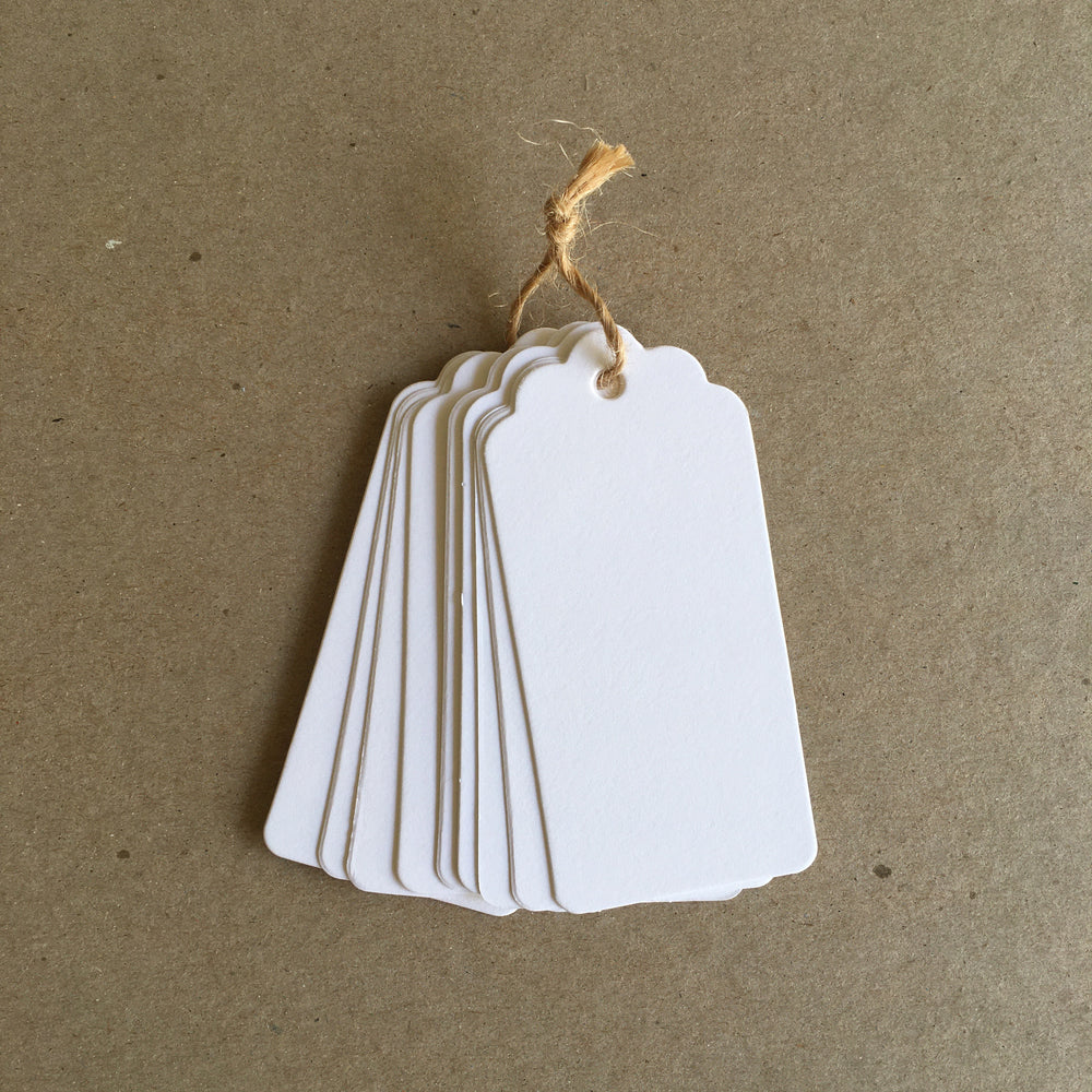White Gift Tags / Bookmarks (20pc)