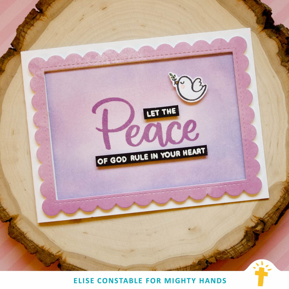 Peace Words Clear Stamps