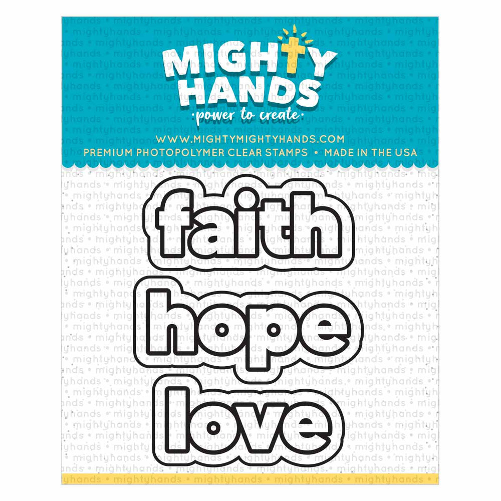 Faith Hope Love Die Set