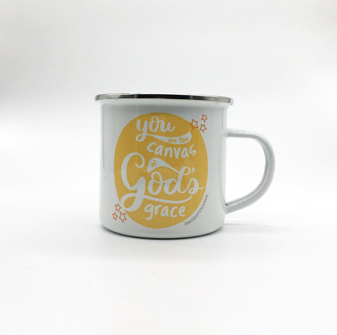 You are the Canvas of God's Grace Enamel Mug