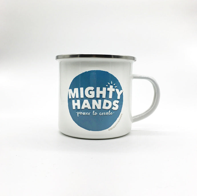 Mighty Hands Enamel Mug