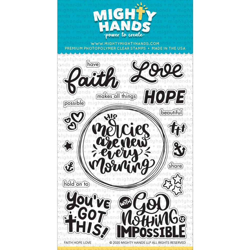 Faith Hope Love Clear Stamps