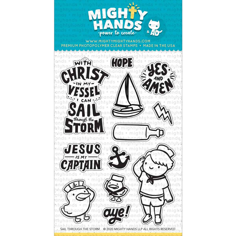 Sail Through the Storm Clear Stamps