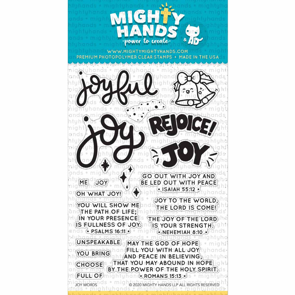 Joy Words Clear Stamps