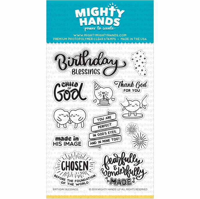 christian photopolymer clear stamp birthday blessing jesus god mighty hands card scrapbook bible journaling