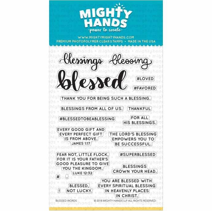 Blessed Words Clear Stamps