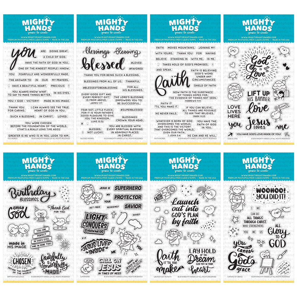 mighty hands christian photopolymer clear stamps faith you blessed words god is love birthday blessings superhero launch out in faith canvas of grace card scrapbooking paper crafting