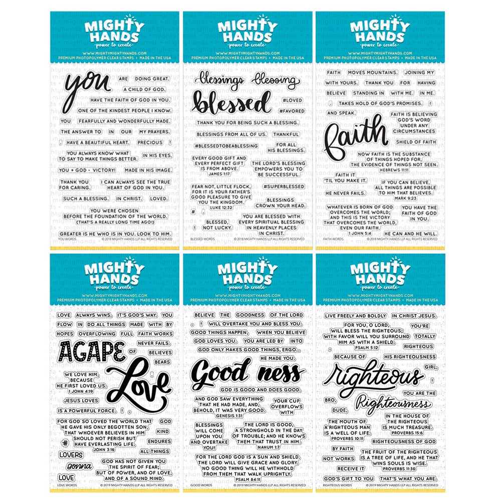 Words Bundle Clear Stamps