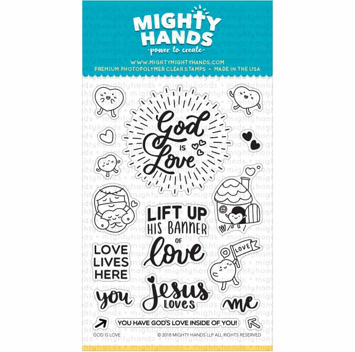 god is love jesus scripture christian photopolymer clear stamp mighty hands card scrapbook bible journaling