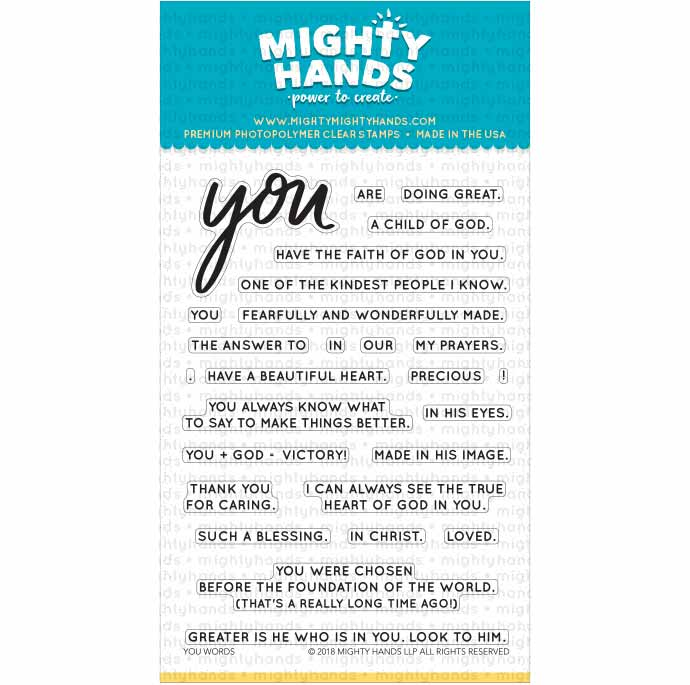 you words scripture encouragement kindness christian photopolymer clear stamp mighty hands card scrapbook bible journaling