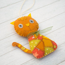 Ginger cat ornament