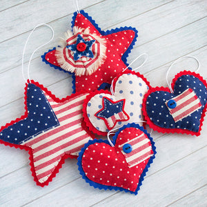 The_set_of_patriotic_decorations