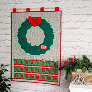 Advent calendar with a wreath for kids