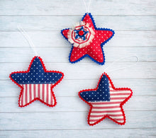 Patriotic decorations for 4th of July American stars