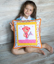 Kids pillowcases Birthday girl gift Girl room decor Decorative pillow Girl pillowcase pillow cover pink pillow orange pillow Nursery decor