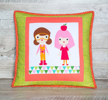 Girl pillow cover Kids room pillow Colorful pillow Toddler pillow cases Coral nursery throw pillow gift green pillow accent Pink toss pillow