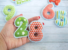 Magnet numbers for kids Newborn photo props
