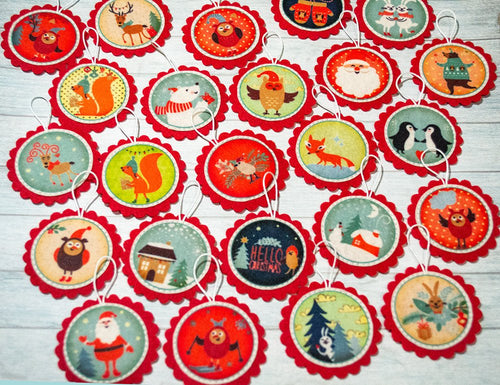 Christmas ornaments Advent calendar ornaments Kids Christmas gift Xmas decor Christmas tree Christmas countdown Advent ornaments Kids advent