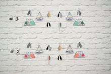 Mountain garland with teepees