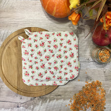 Floral potholders pastel potholder provence pot holders rose kitchen pot holder hot pads shabby chic kitchen decor Gift for mom Floral pads