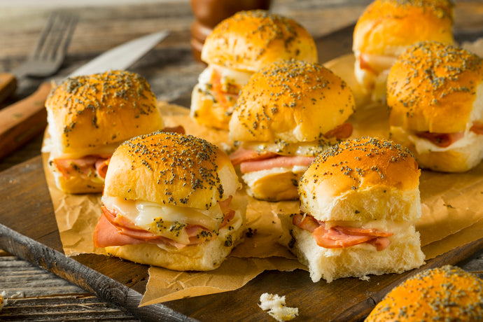 Hot Honey Ham Biscuit Sliders