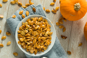 Hot Honey Roasted Pumpkin Seeds