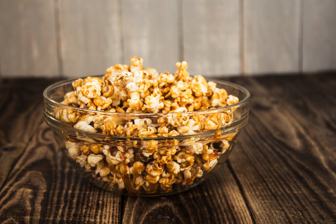 Hot Honey Salted Caramel Popcorn