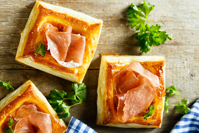 Pear, Prosciutto, and Goat Cheese Tarts