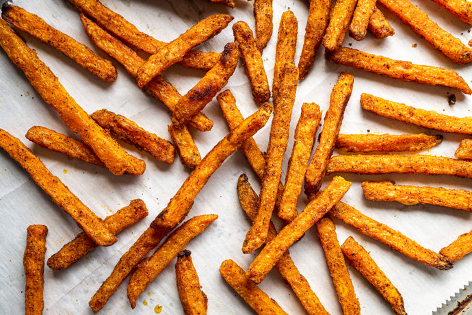 Spicy Honey Cinnamon Sweet Potato Fries