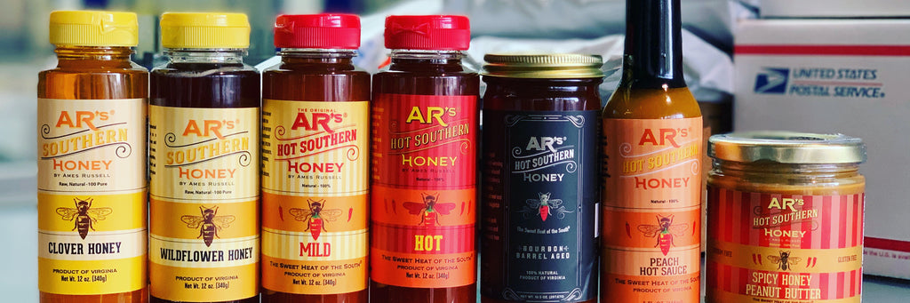 AR's Hot Southern Honey Product Line with Mail