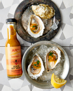 AR's Peach Hot Sauce Oysters