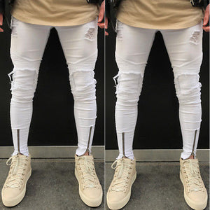 Men Stylish Ripped Scratched Jeans