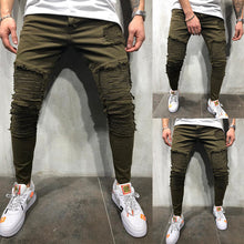 Load image into Gallery viewer, Army Green Pleated Skinny pants