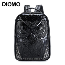 Load image into Gallery viewer, DIOMO Cool 3D Owl Backpack