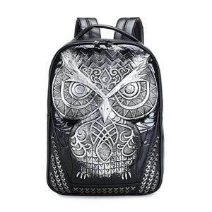 DIOMO Cool 3D Owl Backpack