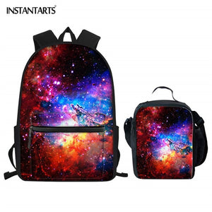 INSTANTARTS Galaxy Starry Print Backpacks