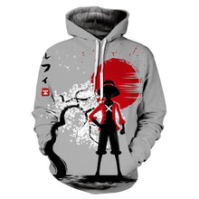 Load image into Gallery viewer, one piece luffy 3D Hoodies
