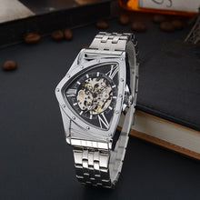 Load image into Gallery viewer, Hollow Triangular Mechanical Watches Stainless Steel Men's Wristwatche