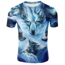 Load image into Gallery viewer, Wolf 3D Print Animal T-Shirt