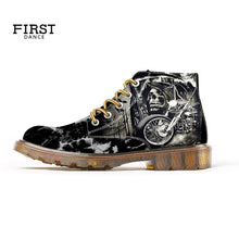 Load image into Gallery viewer, Skull Boots for Men Custom Design Fashion Boots
