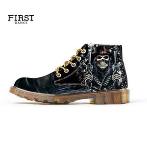 Skull Boots for Men Custom Design Fashion Boots