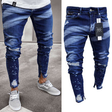 Load image into Gallery viewer, Brand New Styl Stylish Men's Ripped Skinny Jeans