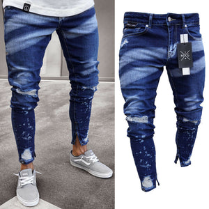 Brand New Styl Stylish Men's Ripped Skinny Jeans