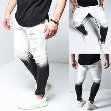 Load image into Gallery viewer, Gradient Color Ripped Jeans Men Casual Slim Fit Mens Skinny