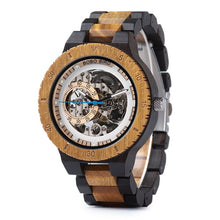 Load image into Gallery viewer, Wooden Mechanical Luxury Timepieces