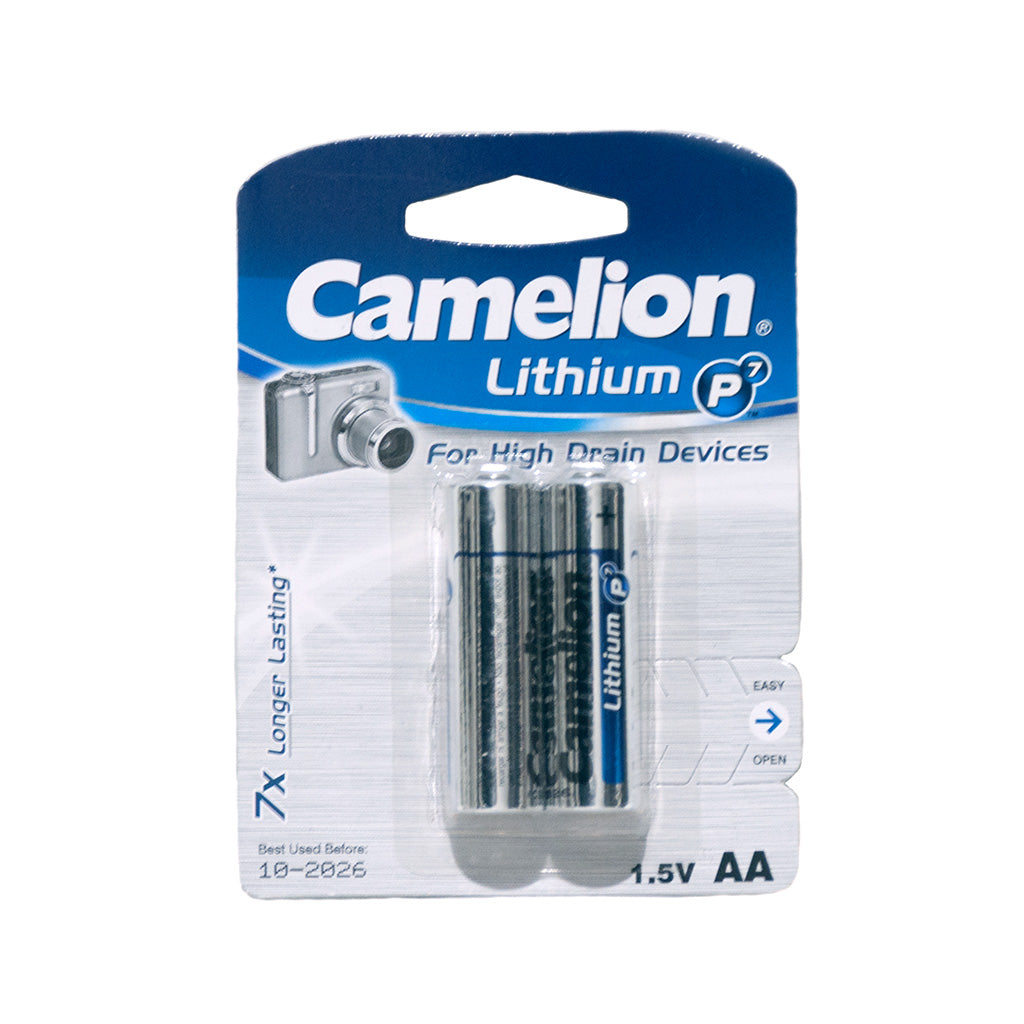 Camelion Lithium P7  AA Camera Battery - 2 pack