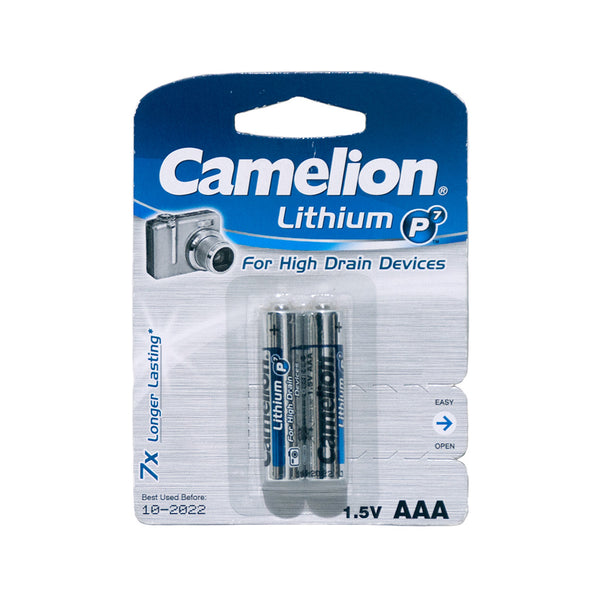 Camelion Lithium P7 AAA Camera Battery - 2 pack