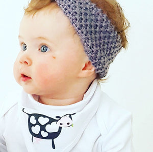 Mrs Moo The Cow Bandana Bib