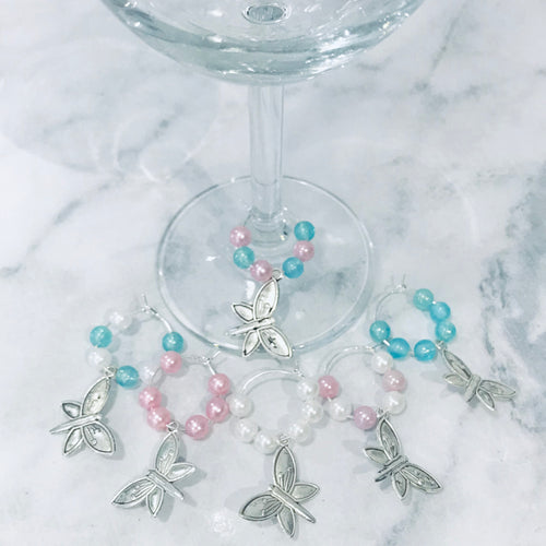 Wine Glass Charms - Set of 6