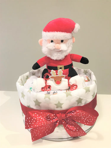 Santa One Tier Nappy Cake
